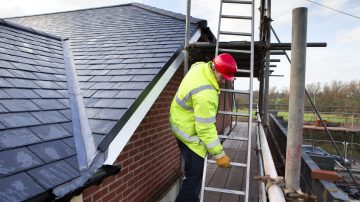New roofs in Saltburn-by-the-Sea