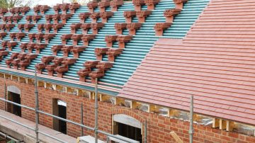 New tiled roofs in Cleveland Port