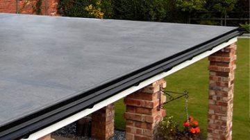 felt flat roof installation in Yearby